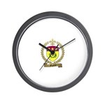 MIGNEAU Family Crest Wall Clock