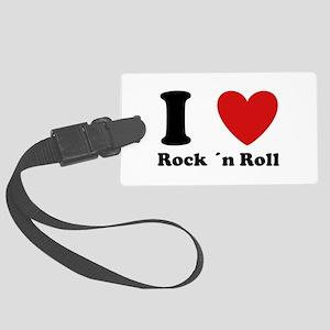 I love rock n roll Large Luggage Tag