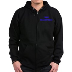 Team Shakespeare Zip Hoodie (dark)