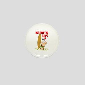 Surfs Up Mini Button