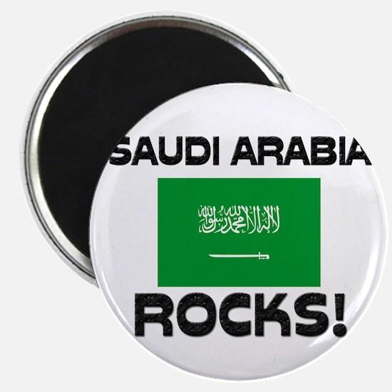 Saudi Arabia Rocks! Magnet
