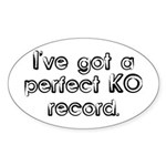 Funny Anesthesiologist Oval Sticker