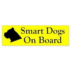 Smart Dogs On Board Bumper Bumper Sticker