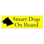 Smart Dogs On Board Bumper Sticker