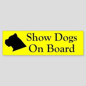 Show Dogs On Board Bumper Sticker