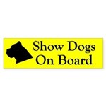 Show Dogs On Board Bumper Sticker