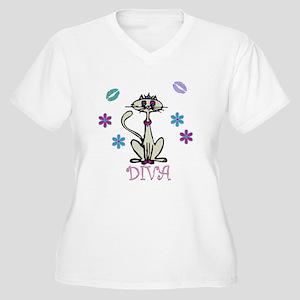 I'm A Diva Women's Plus Size V-Neck T-Shirt