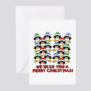 Baby Penguins Merry Christmas Greeting Cards (Pk o