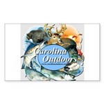 Carolina Outdoors Game Animal Sticker (Rectangular