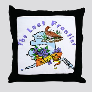 Alaska Pride! Throw Pillow