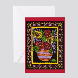 Zinnia Party 1 Cards Greeting Card