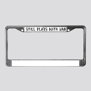 Still plays with vampires License Plate Frame