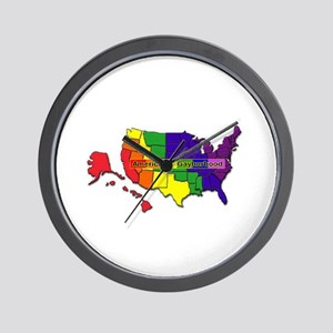 america's gayborhood Wall Clock
