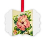 Pink Hibiscus Beautiful Painting Print Picture Orn