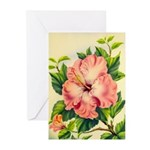 Pink Hibiscus Beautiful Painting Print Greeting Ca