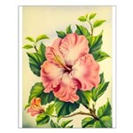 Pink Hibiscus Beautiful Painting Print Small Poste