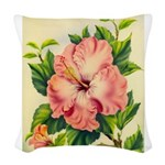 Pink Hibiscus Beautiful Painting Print Woven Throw