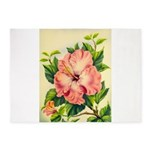 Pink Hibiscus Beautiful Painting Print 5'x7'Area R