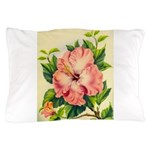 Pink Hibiscus Beautiful Painting Print Pillow Case