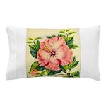 Pink Hibiscus Beautiful Painting Print Pillow Case