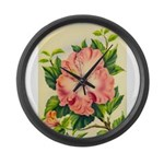 Pink Hibiscus Beautiful Painting Print Large Wall