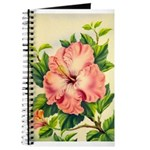 Pink Hibiscus Beautiful Painting Print Journal