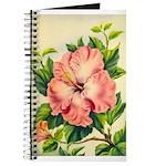 Pink Hibiscus Beautiful Painting Print Journal