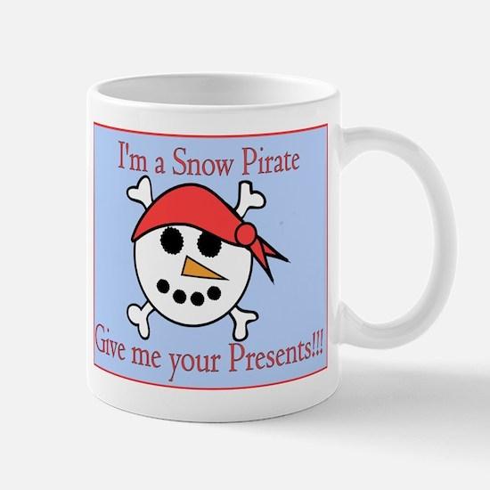 Snow Pirate Blue Background Mug