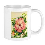 Pink Hibiscus Beautiful Painting Print Mugs