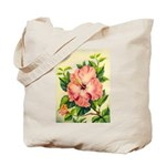 Pink Hibiscus Beautiful Painting Print Tote Bag