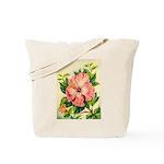 Pink Hibiscus Beautiful Painting Print Tote Bag