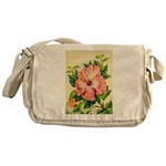 Pink Hibiscus Beautiful Painting Print Messenger B