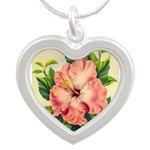 Pink Hibiscus Beautiful Painting Print Necklaces