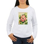 Pink Hibiscus Beautiful Painting Print Long Sleeve