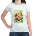 Pink Hibiscus Beautiful Painting Print T-Shirt