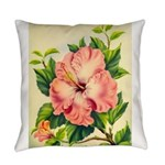 Pink Hibiscus Beautiful Painting Print Everyday Pi