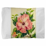 Pink Hibiscus Beautiful Painting Print Pillow Sham