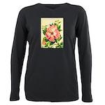 Pink Hibiscus Beautiful Painting Print T-Shirt