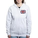 Union Jack Flag Women's Zip Hoodie