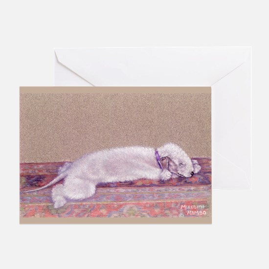 Bedlington-Sweet Dreams Greeting Card