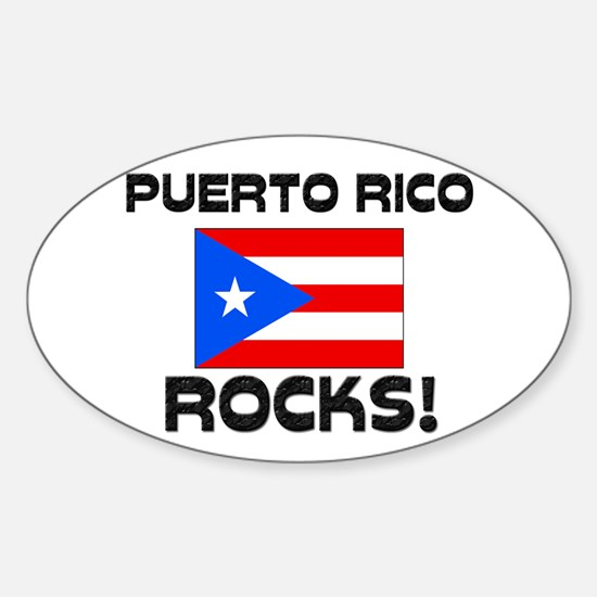 Puerto Rico Rocks! Oval Decal