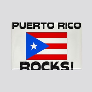 Puerto Rico Rocks! Rectangle Magnet