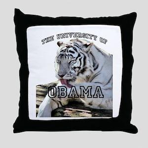 The University of Obama Zoolo Throw Pillow