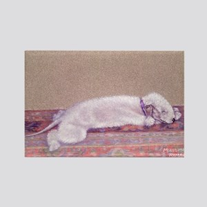 Bedlington-Sweet Dreams Rectangle Magnet