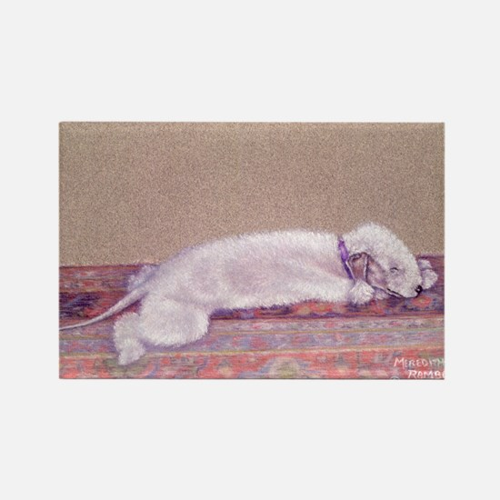 Bedlington-Sweet Dreams Rectangle Magnet