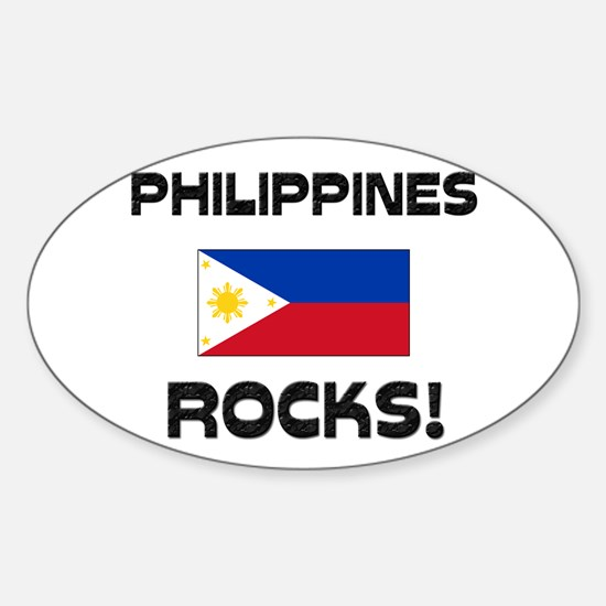 Philippines Rocks! Oval Decal