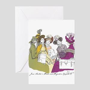 Pride & Prejudice Ch 39 Greeting Card