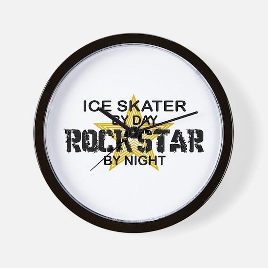 Ice Skater Rockstar by Night Wall Clock