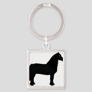 black horse 2 Keychains
