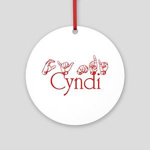 Cyndi Ornament (Round)